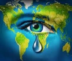 Le monde pleure, la Terre souffre par la pollution.